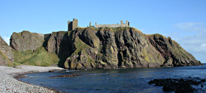 Dunnottar Castle on its dramatic cliff setting near Aberdeen