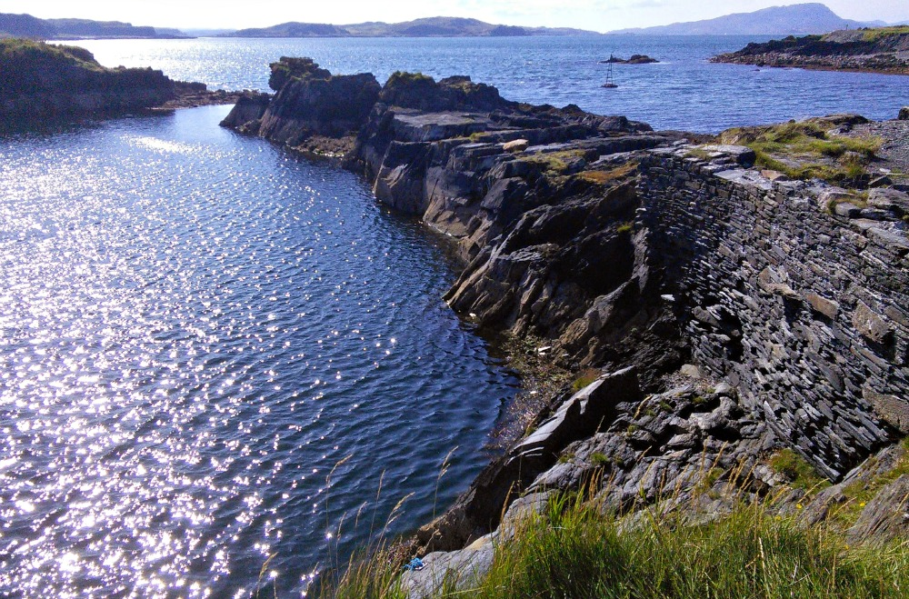 The drowned slate mines - Isle of Seil