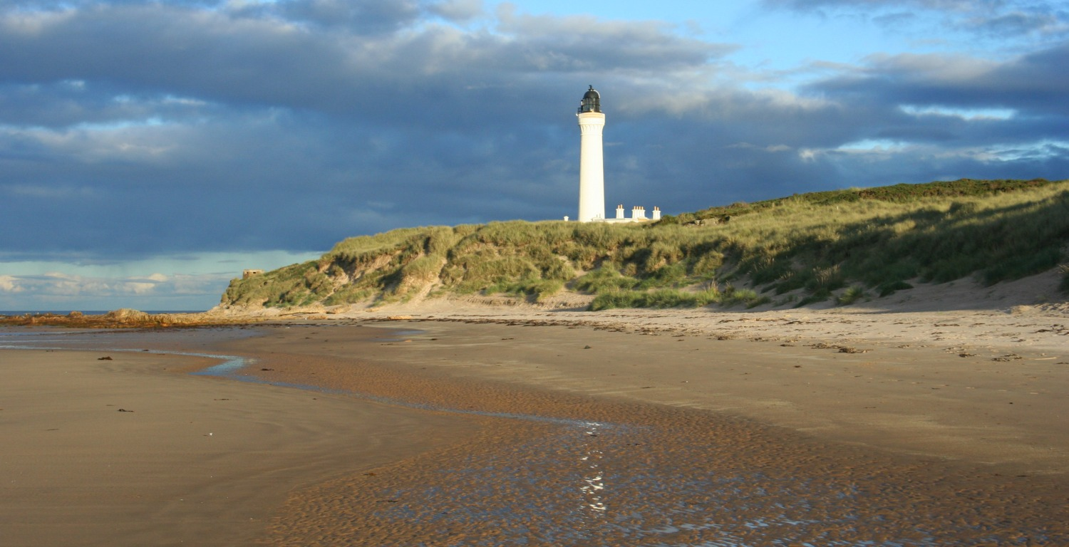 Covesea Skerries Lighthouse, by Lossiemouth, Moray.