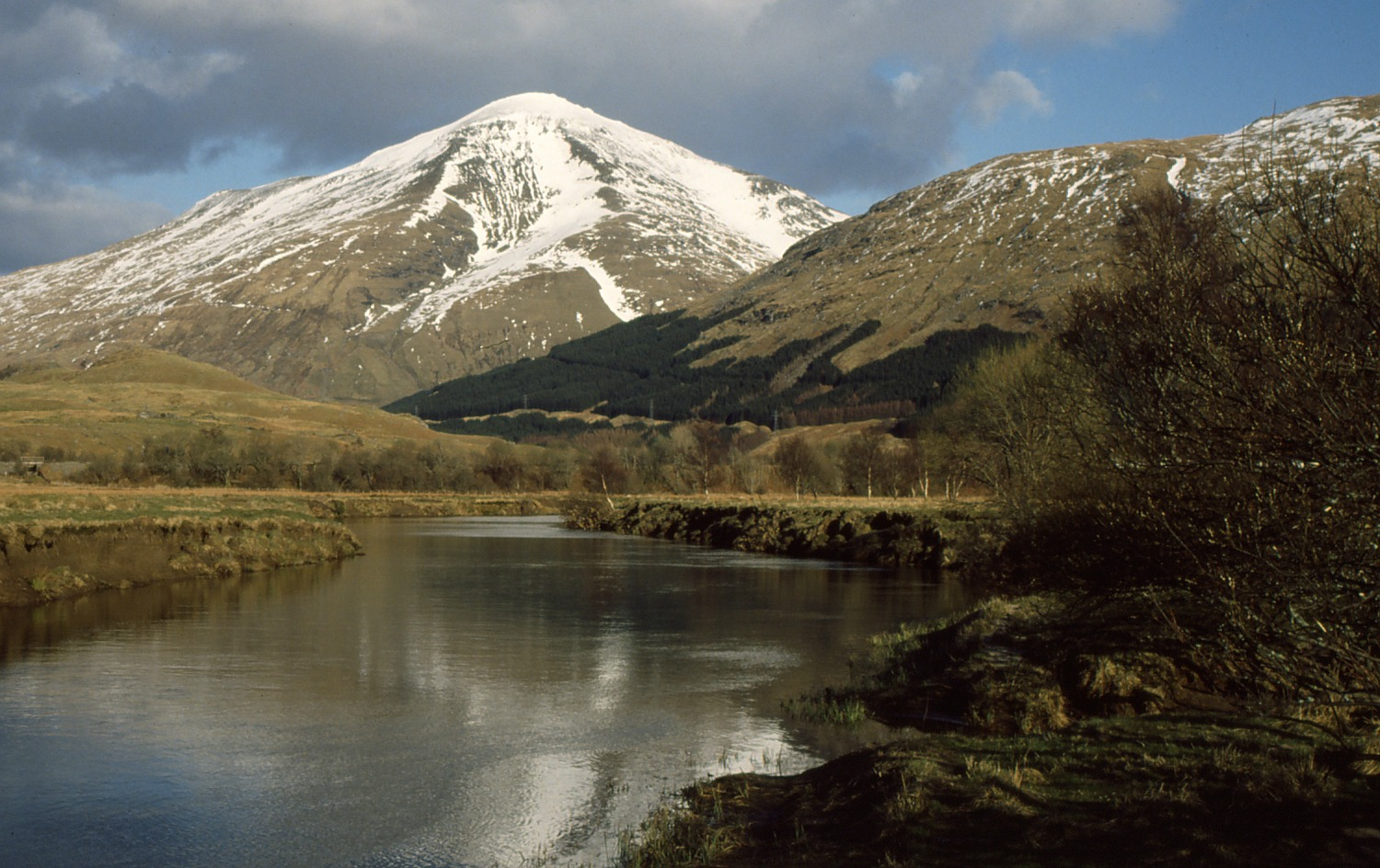 Ben More and the River Fillan near Crianlarich.