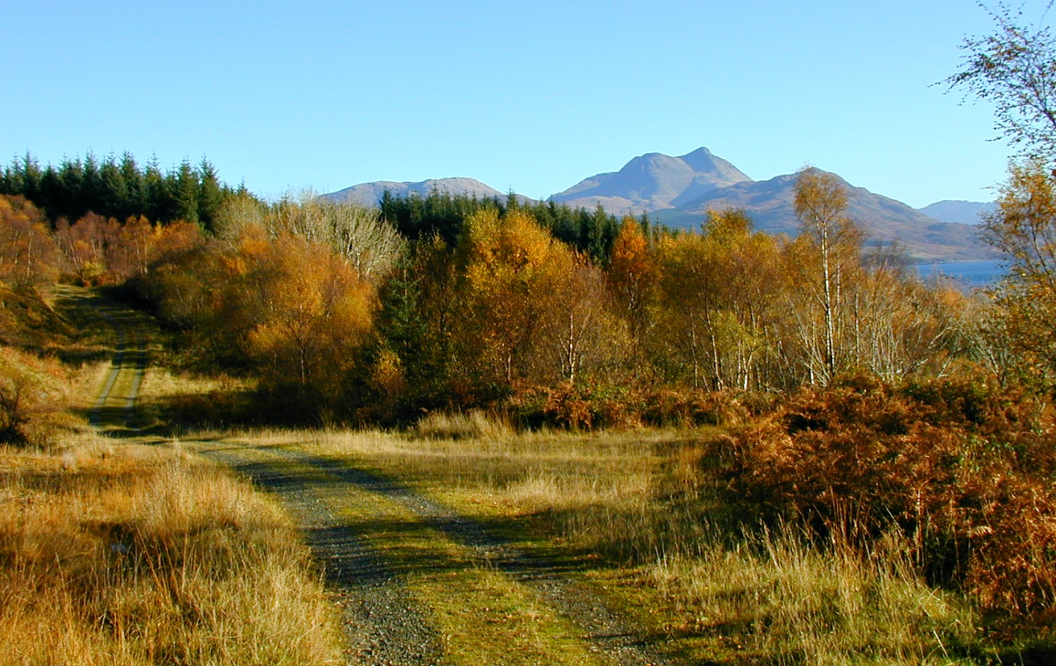 Autumn on Skye, looking east to the mainland.