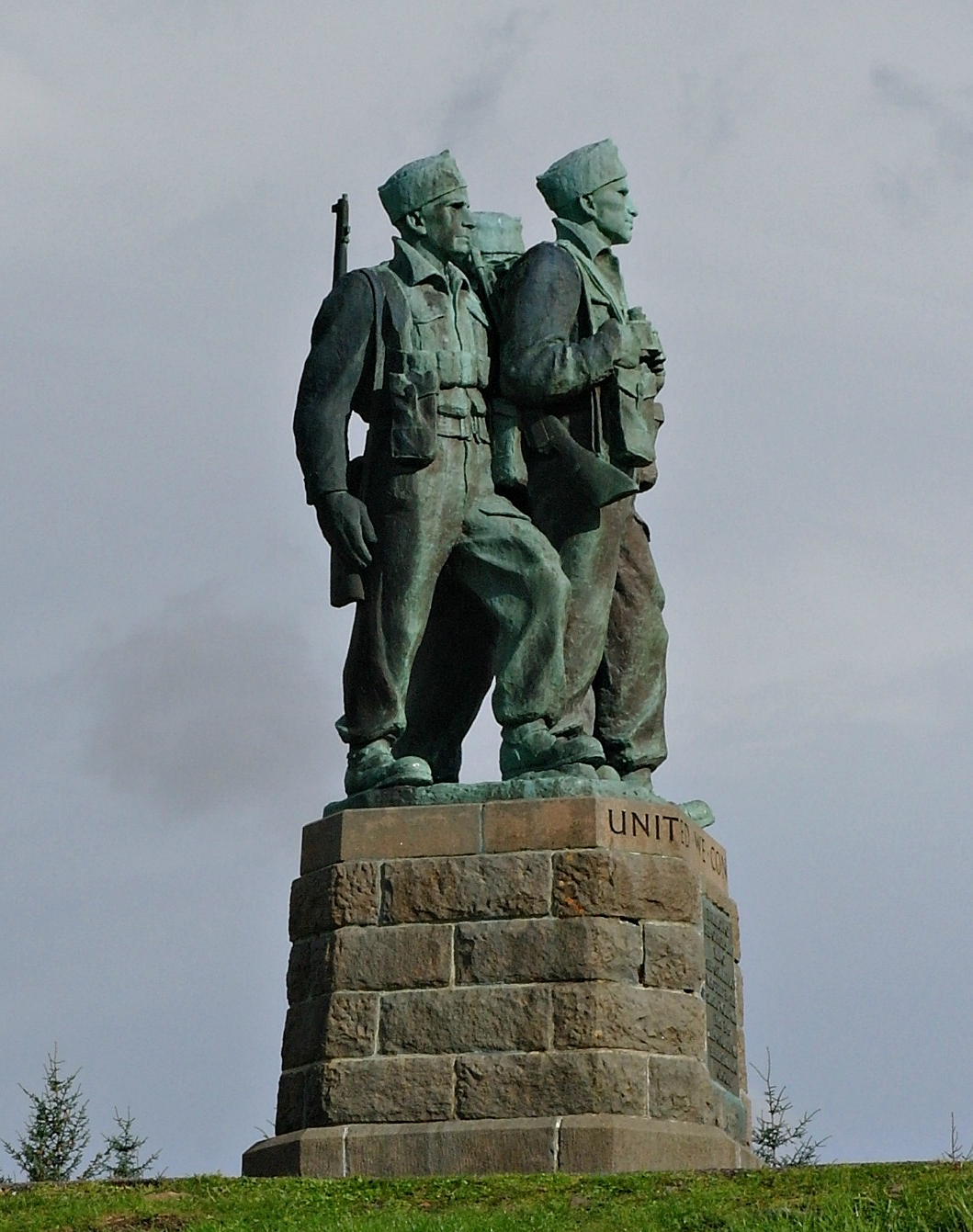The dignity and sheer presence of the three figures of the Commando Memorial make quite an impression on visitors.