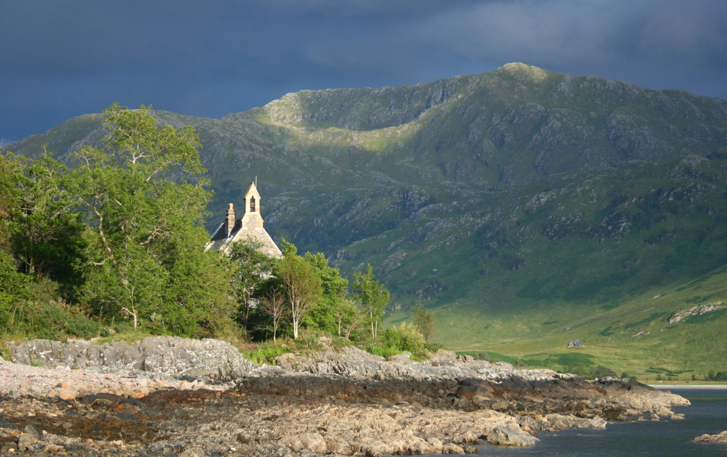 Knoydart, more specifically the little shoreline community of Inverie, has a reputation for remoteness, but is quite easily reached by boat from Mallaig.