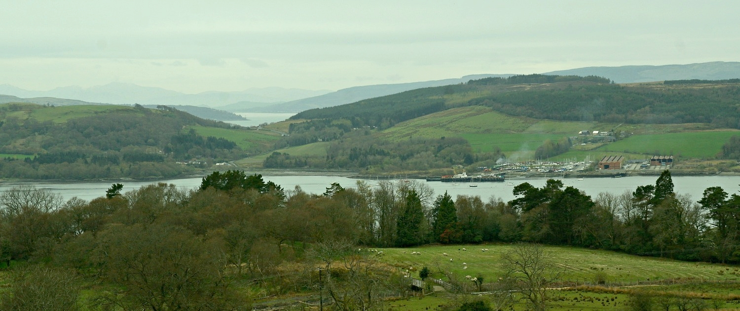 The Highland Boundary Fault as it runs through the Rosneath Peninsula