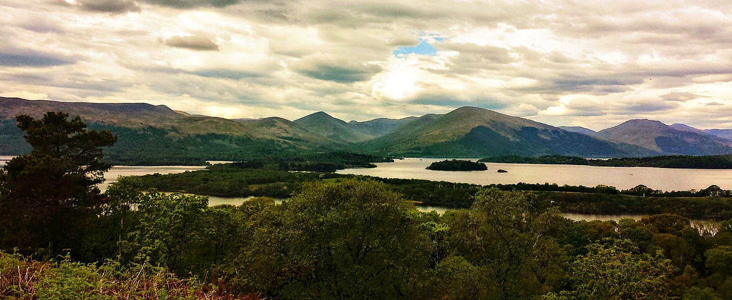 Loch Lomond, looking north-west towards the Luss Hills.