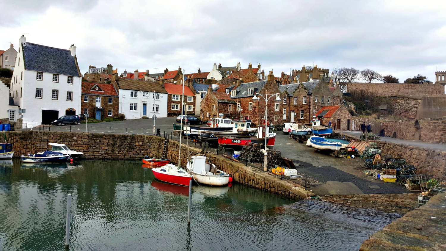 Crail harbour - in the East Neuk of Fife.