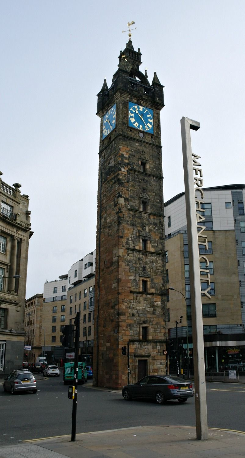 The old Tolbooth steeple at Glasgow Cross, (c. 1625), once the centre of the city.