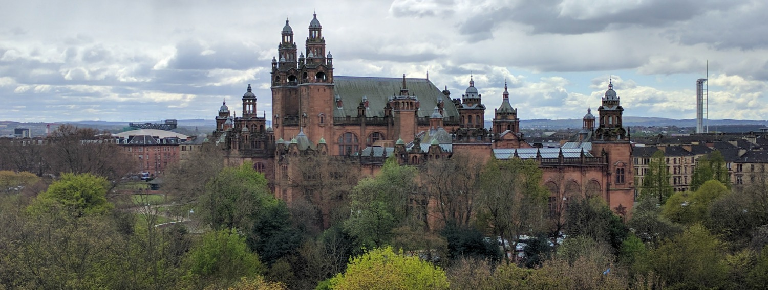 Kelvingrove Art Gallery and Museum from the University environs to the north.