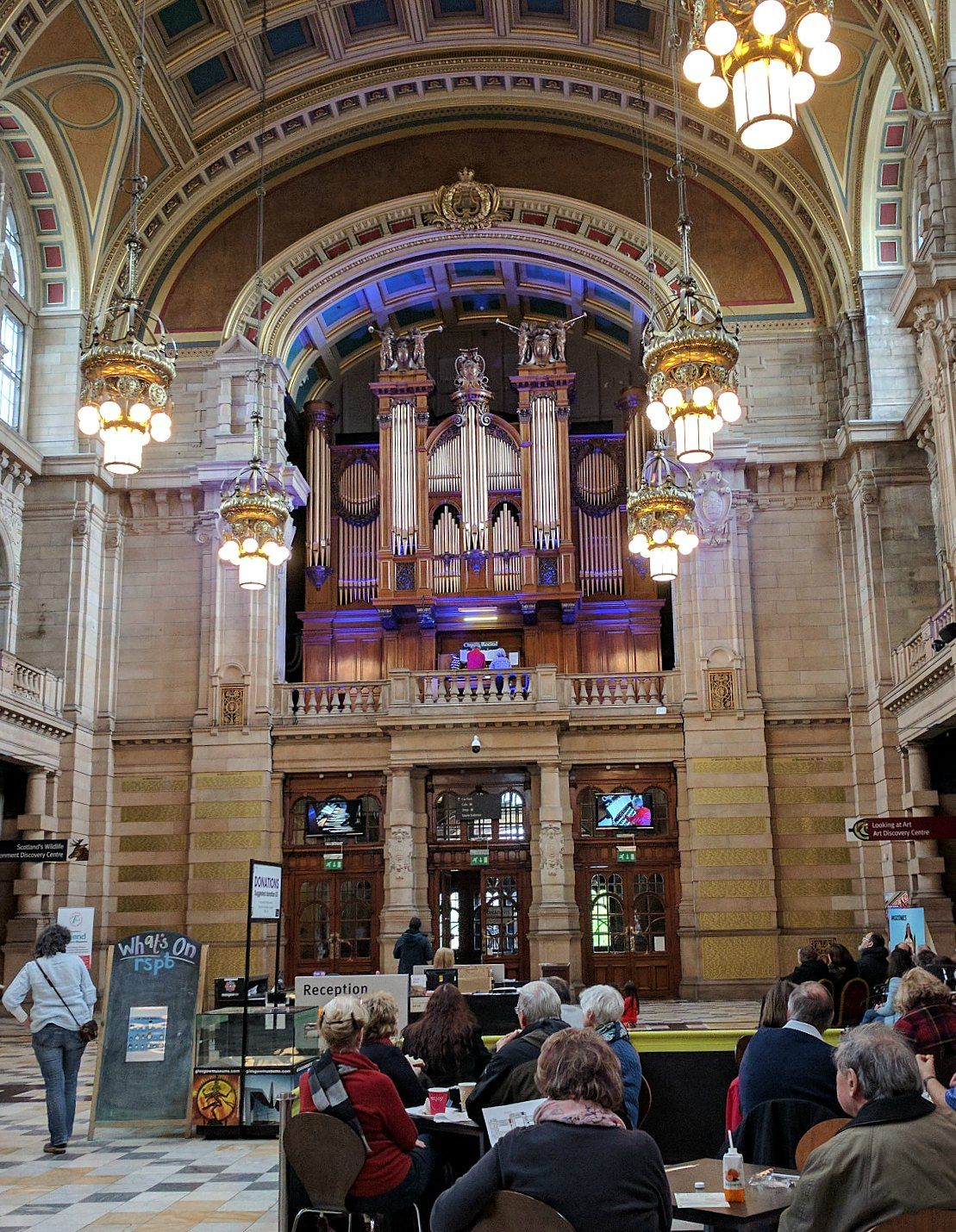 Organ recital at the Kelvingrove