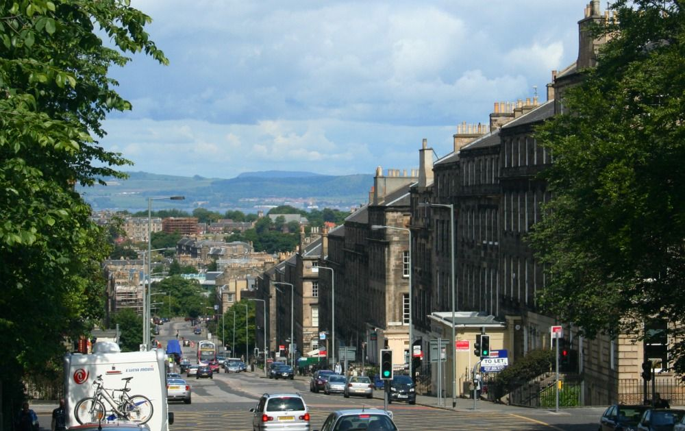 Edinburgh New Town, looking north to Fife.