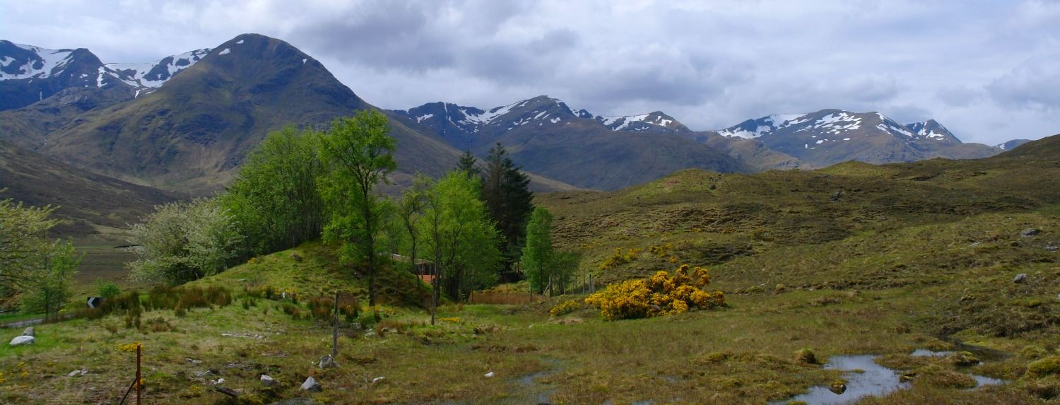 Glen Shiel - soaring hills on either side of the easy to drive road. Great area for hill walking. And, at the west end, it's a gateway to the island of Skye.
