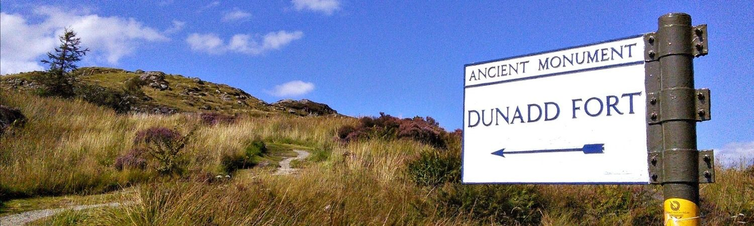 Dunadd near Crinan - ancient crowning place of Scots kings.
