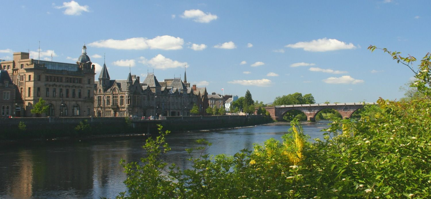 The handsome city of Perth on the banks of the River Tay