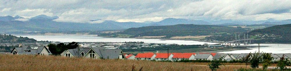 Inverness viewed from the edge of Culloden Moor.