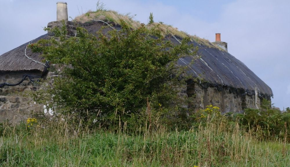 The croft house looked a bit like this one...