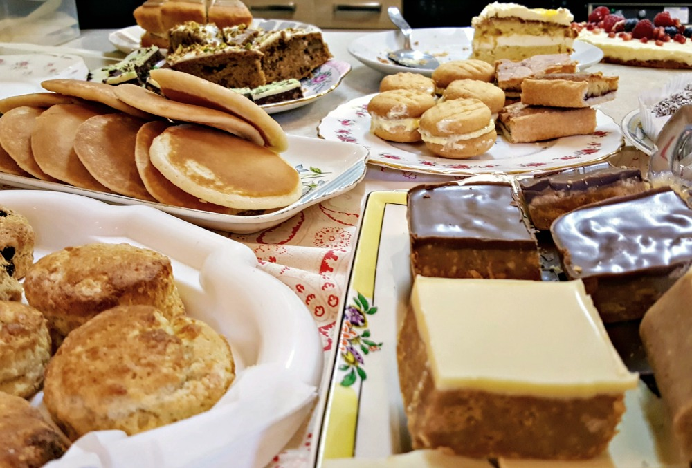 Scottish afternoon tea baking - scones, pancakes, traybakes and sponge cakes - yum!