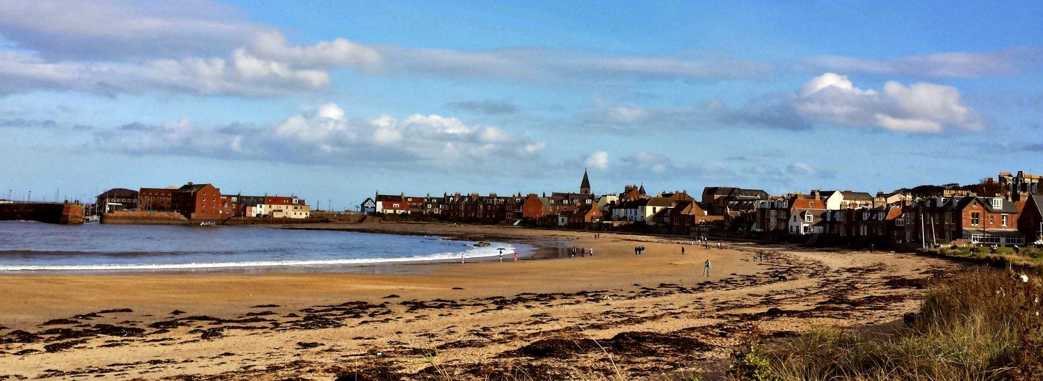 The beach at West Bay at North Berwick - and only a short walk to the town centre.