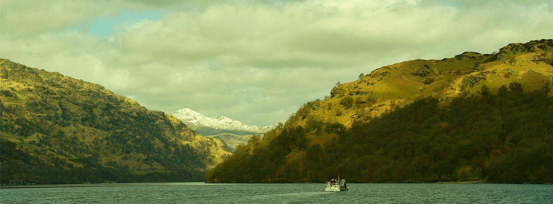 Loch Lomond cruising, near Inversnaid