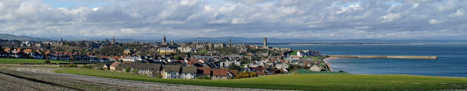 The 'auld grey toun' of St Andrews. Quintessential east coast Scotland. (Though possibly atypically posh.)