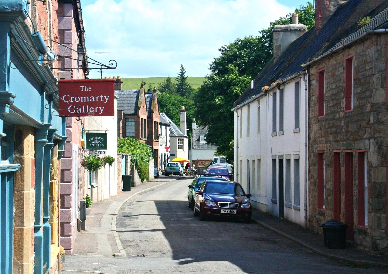 Cromarty street scene.
