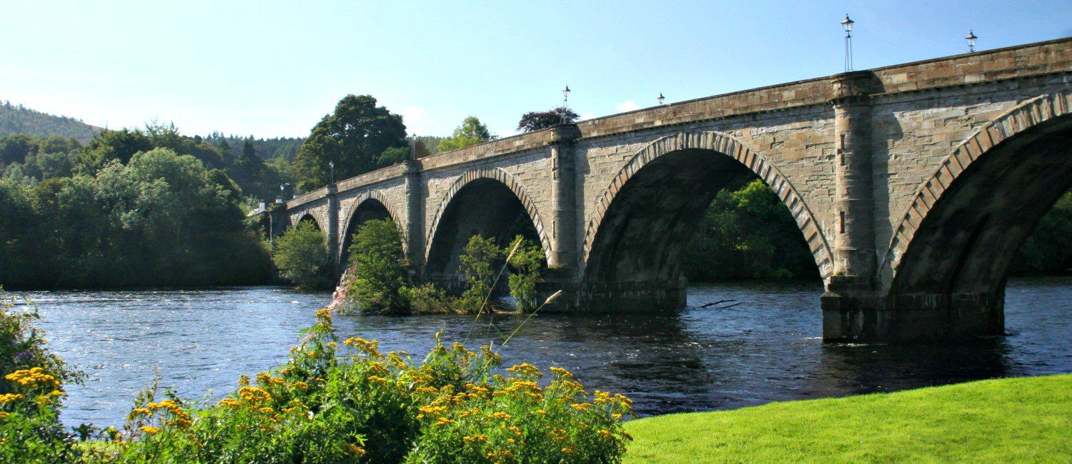 The River Tay flowing through Dunkeld.
