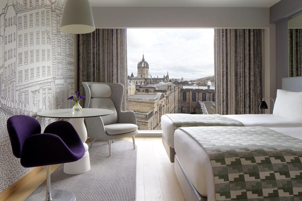 Radisson Collection Hotel, Royal Mile, Edinburgh - spot the spire of St Giles Cathedral.