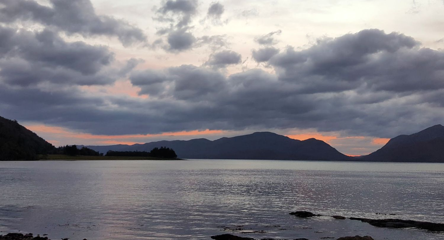 The view from The Holly Tree Hotel - looking west across Loch Linnhe