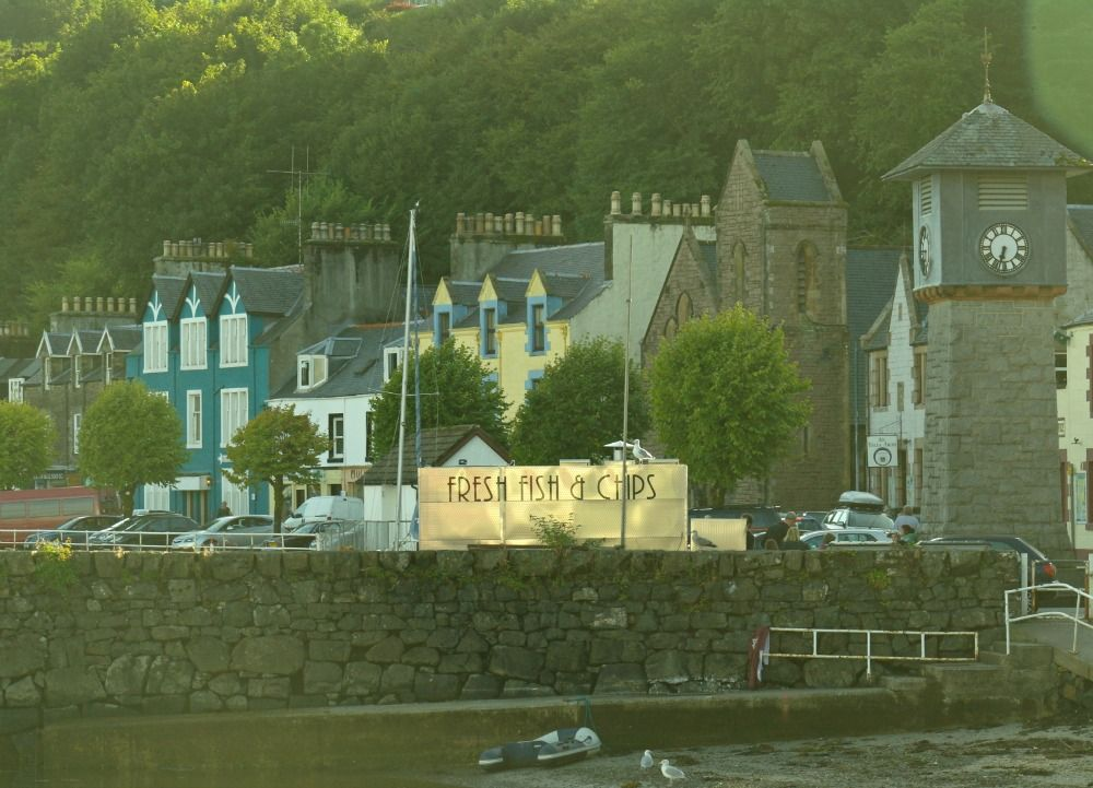 The quite famous fish and chips on the pier at Tobermory.