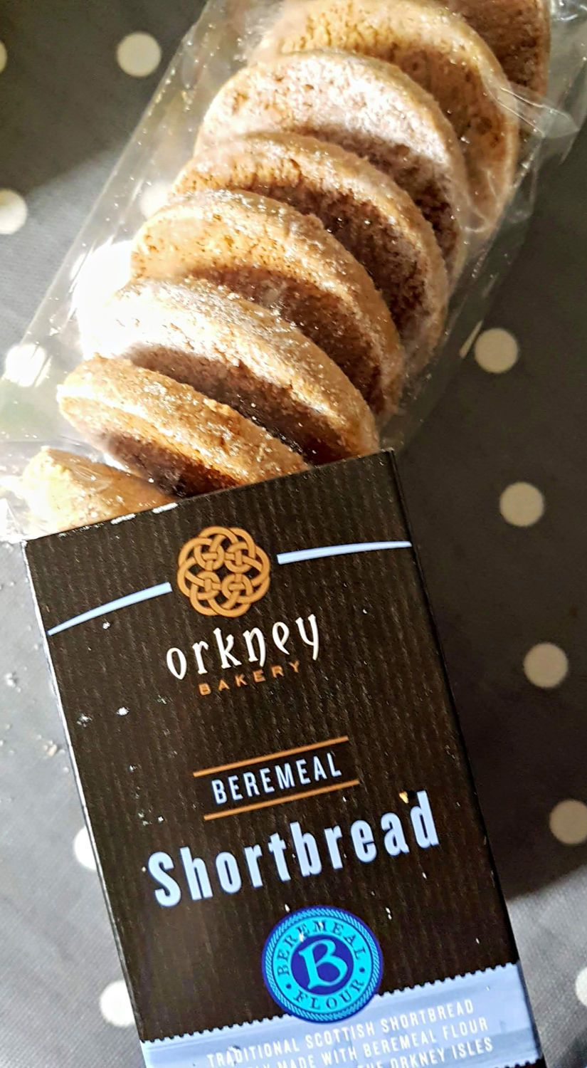 Here's the Orkney Bakery's retail version of their shortbread, using traditional beremeal, a kind of primitive barley grown in the northlands.