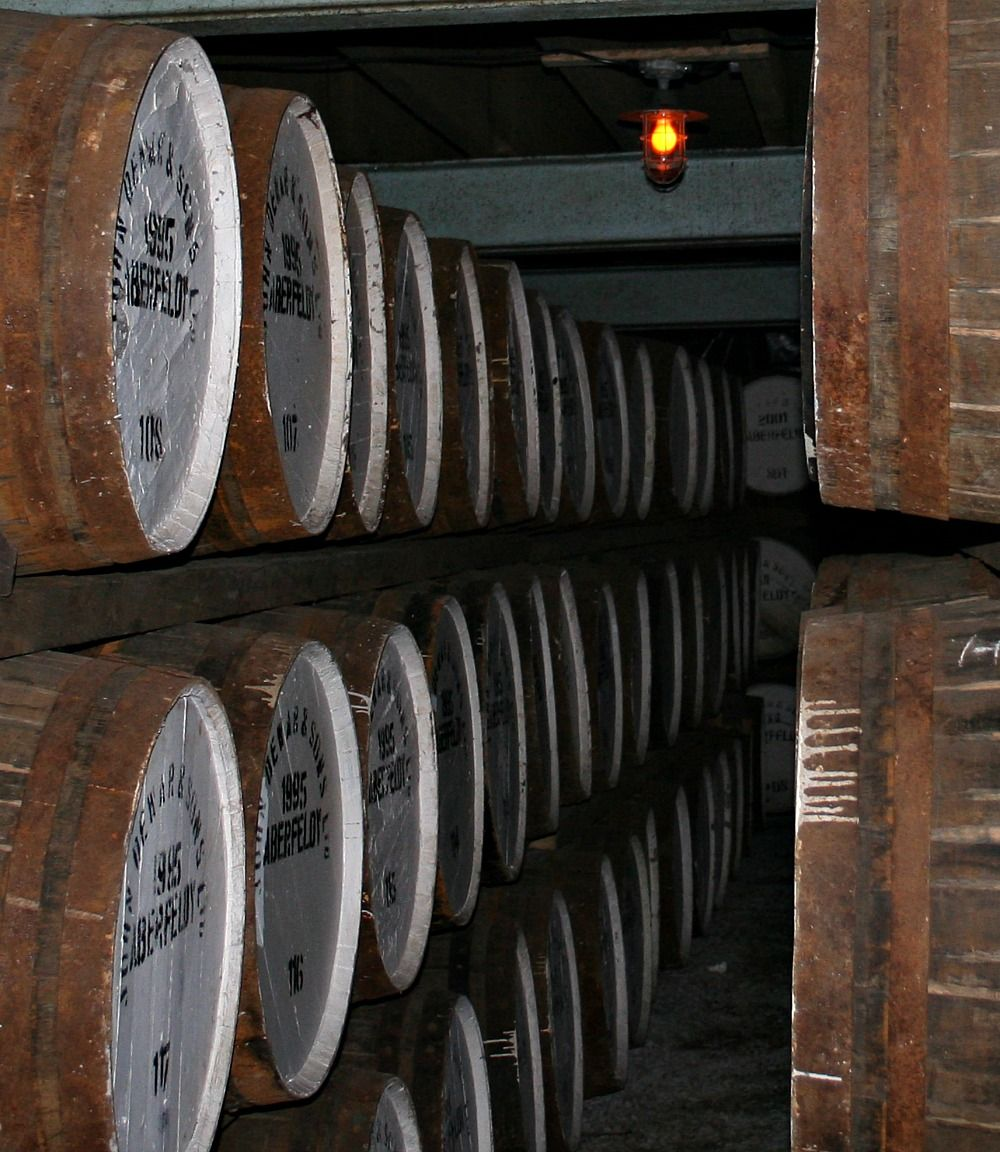 Malt whisky barrels maturing...we're waiting...waiting