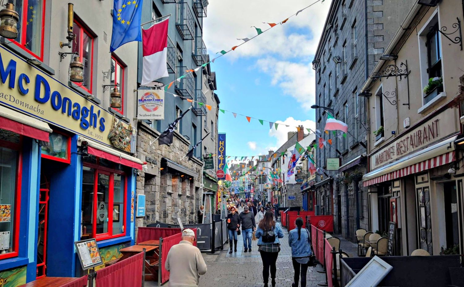 Quay Street in Galway on a fine Saturday morning.