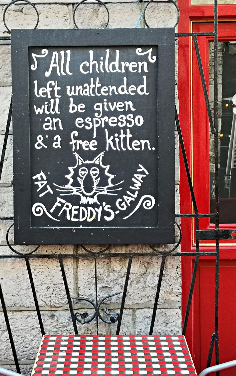 Another reason to like Galway and its cafes.