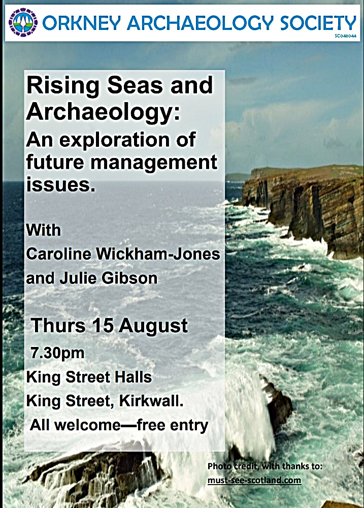 Seascape at Yesnaby again, only this time as a background to an Orkney Archaeology Society meeting announcement. (And, yes, they were polite enough to ask if they could use the picture!!!!)