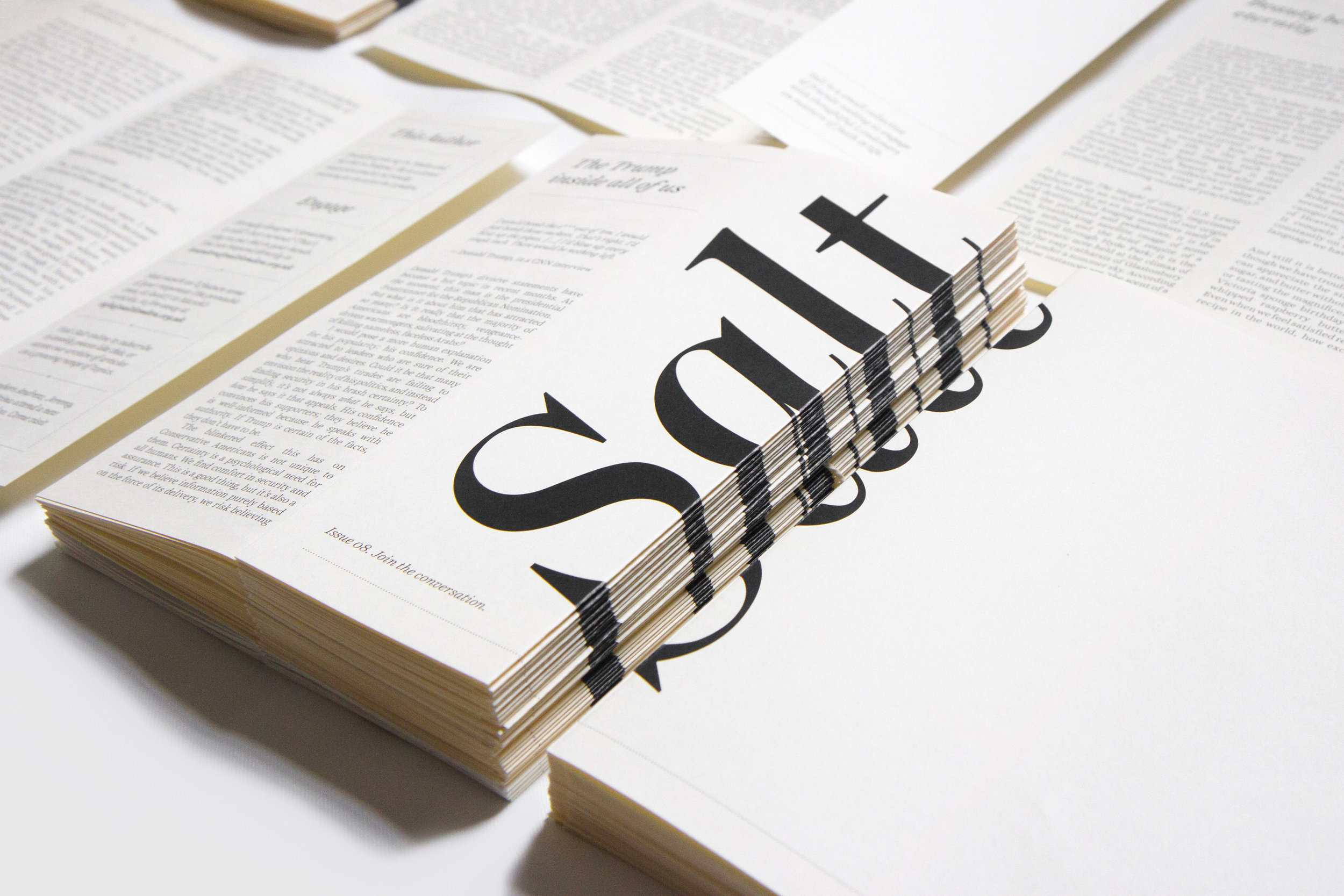 Salt  is designed by   Irina  , who also writes an article every now and then.