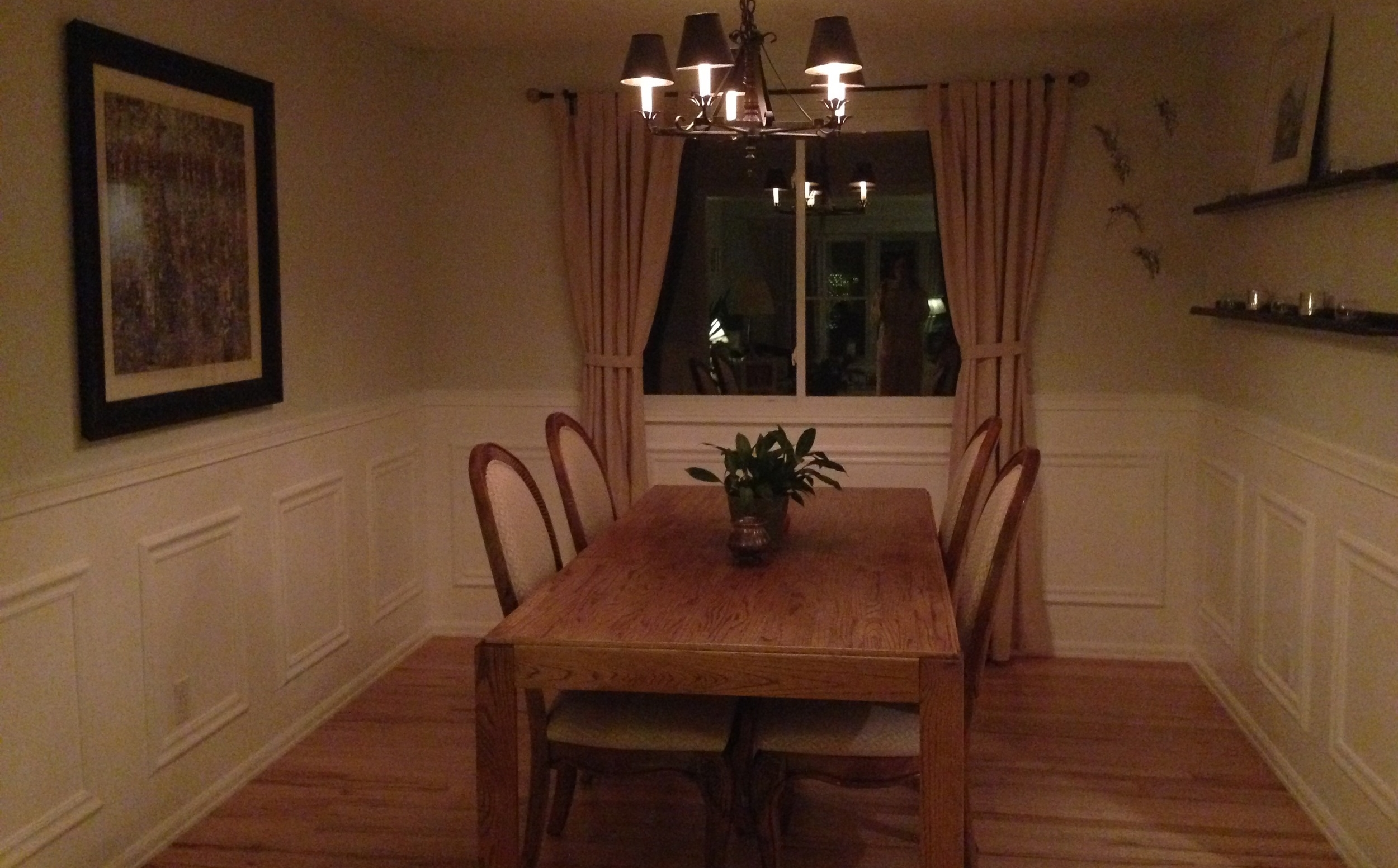 Nobody judge! This was the table and chairs in the old dining room. It's easy to see why I was desperate for change..