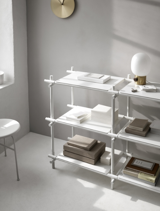 """JWPA Metallic Lamp and Stick System shelves from Menu's new collection """"Modernism Reimagined"""""""