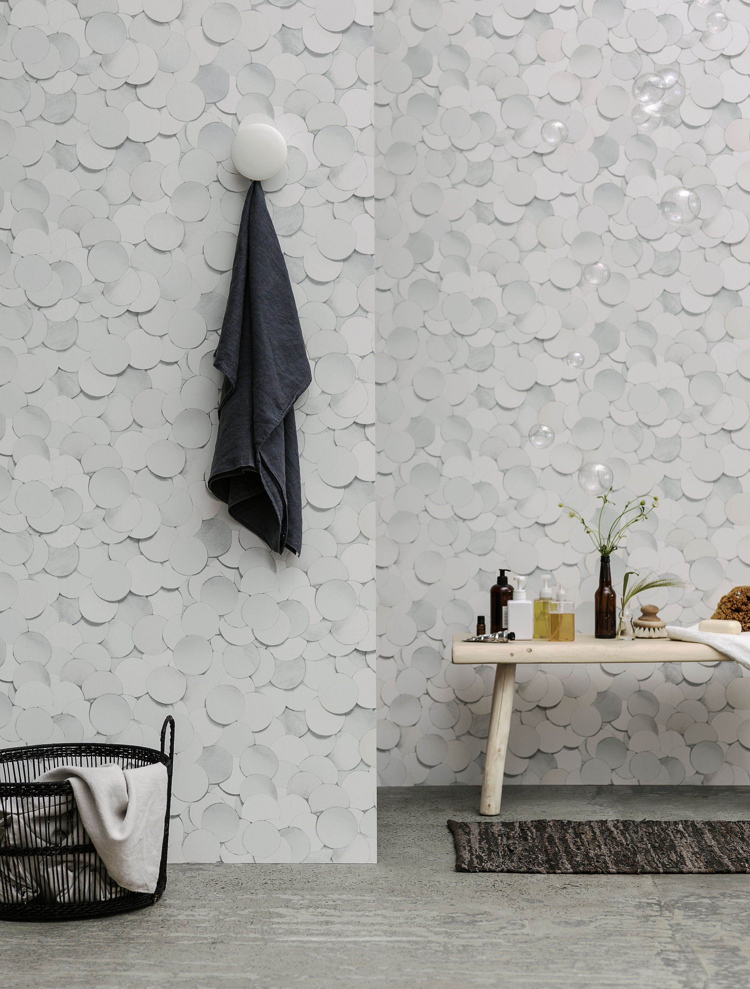 White but anything but boring - Wallpaper by Front Design for Eco Wallpaper