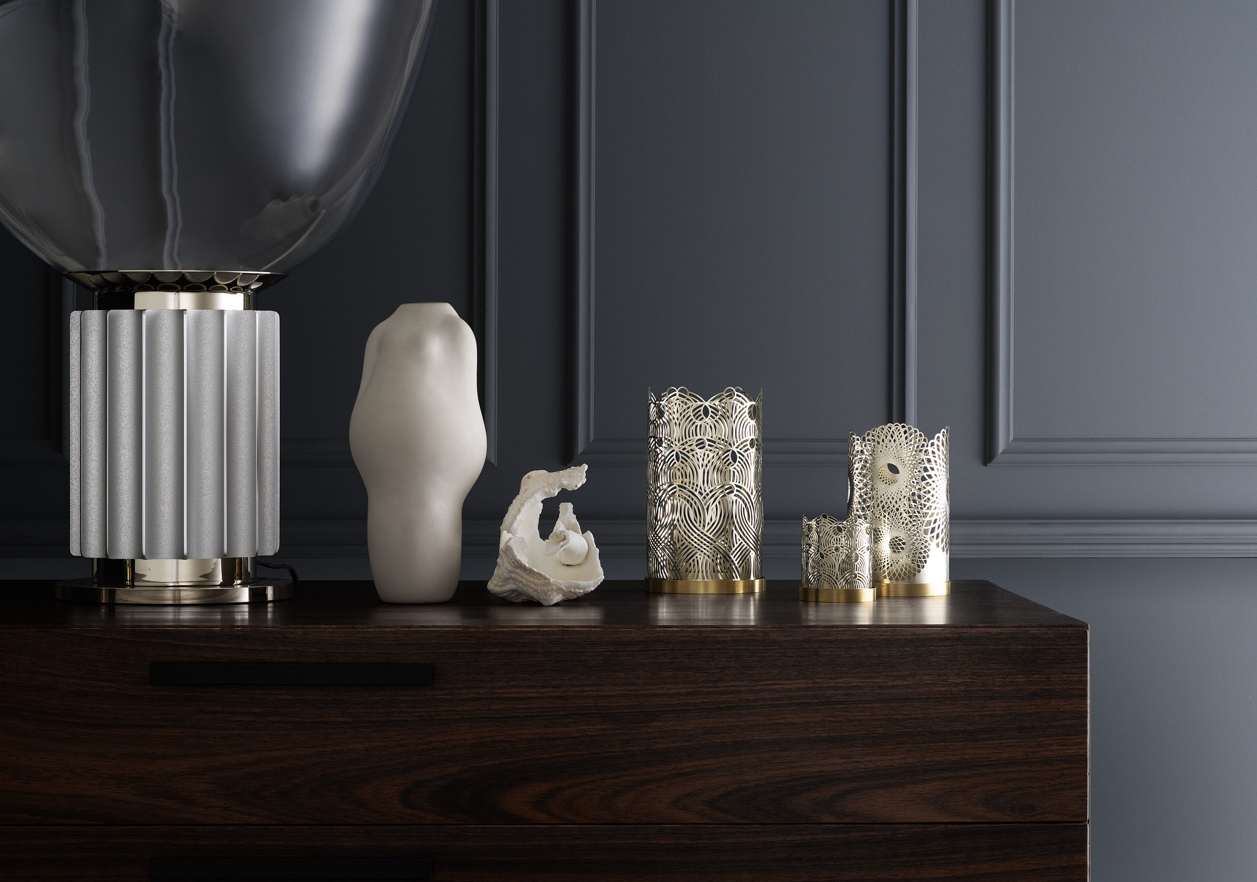 "Skultunas new candle lights ""London"" in silver by Lara Bohinc."
