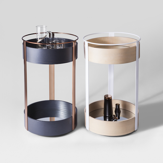 Round bar tables from the Modern by Dwell Magazine collection for Target