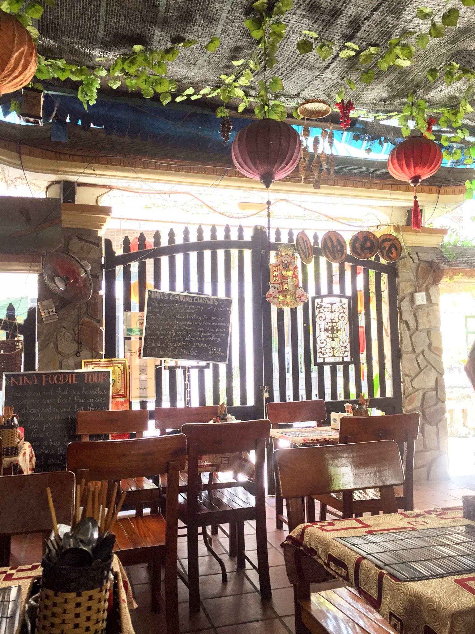 Inside Nina's Cafe