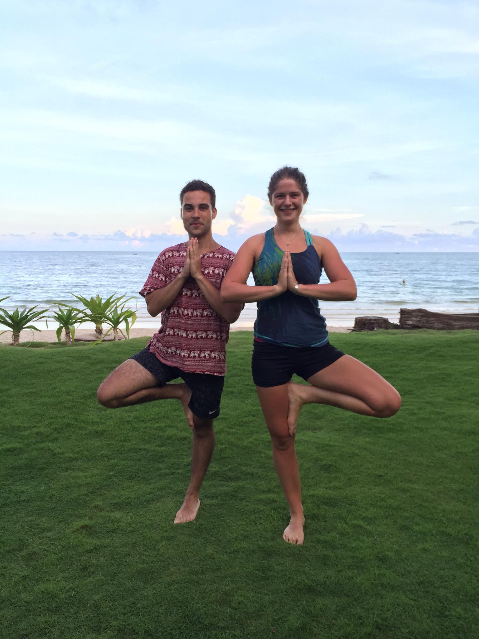 My little yogis on the beach!