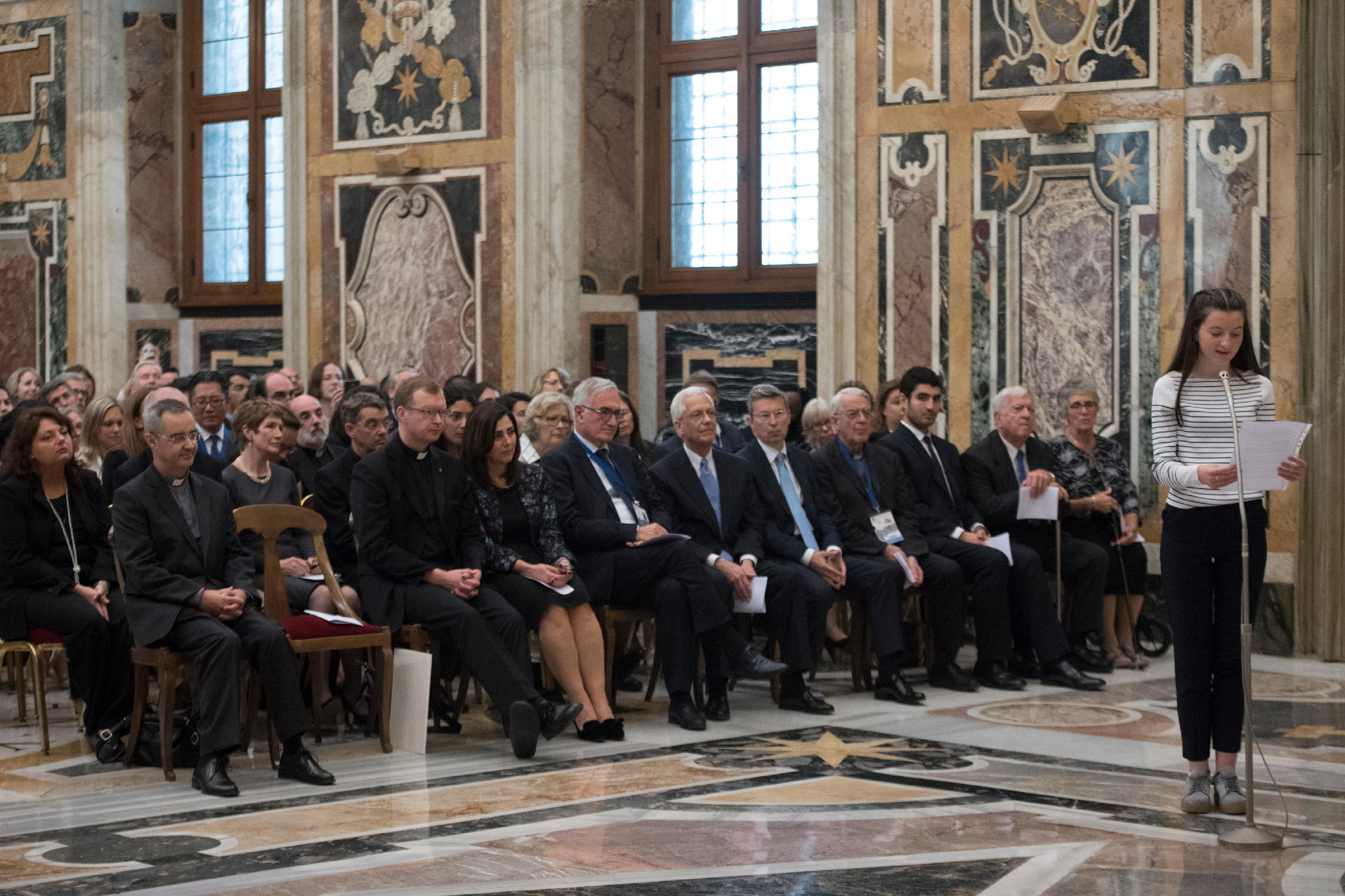 Reading the Declaration of Rome to Pope Francis CDWC.jpg