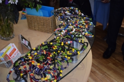 Sam's Beads of Courage - The Beads of Courage programme helps children to take ownership of their journey and to make sense of the experience they are going through in a very visible and tangible way.Karen tells us that Sam -