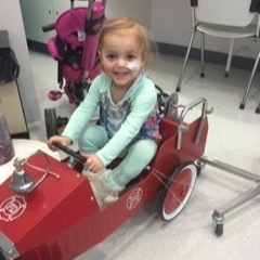Evie started treatment on Christmas Eve