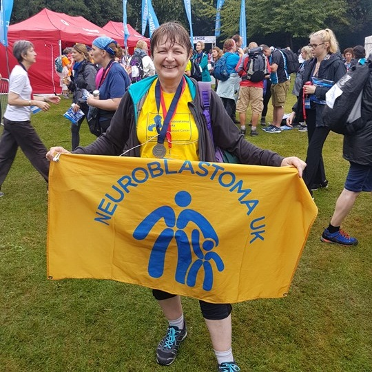 Shirley completed the Thames Bridge Trek in 2016, the 21st anniversary of Joanna's death.