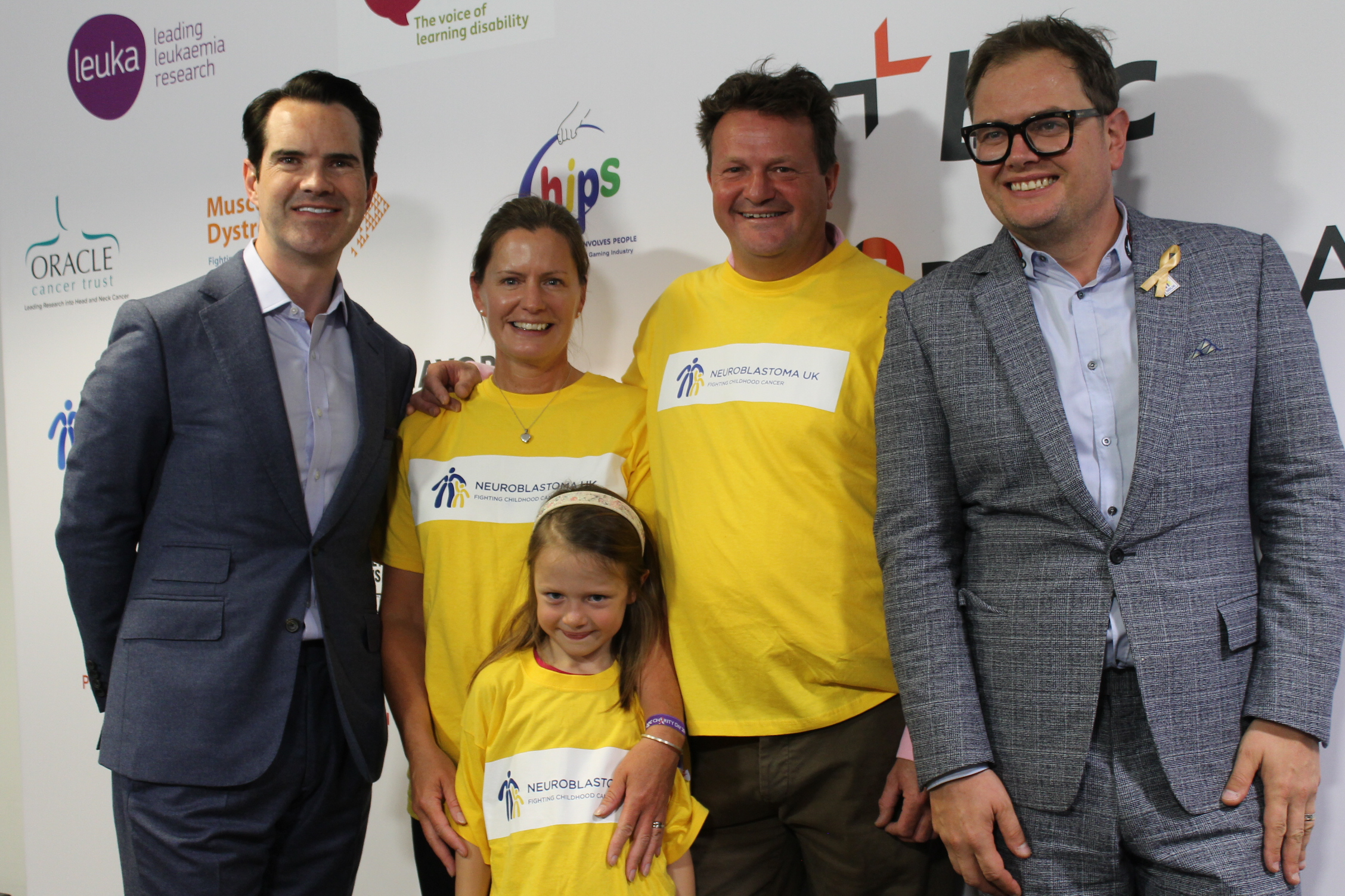 The Jackson family with Alan Carr and Jimmy Carr