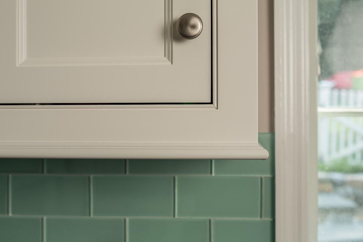 Beaded Inset White Kitchen Cabinet Door - Light Rail