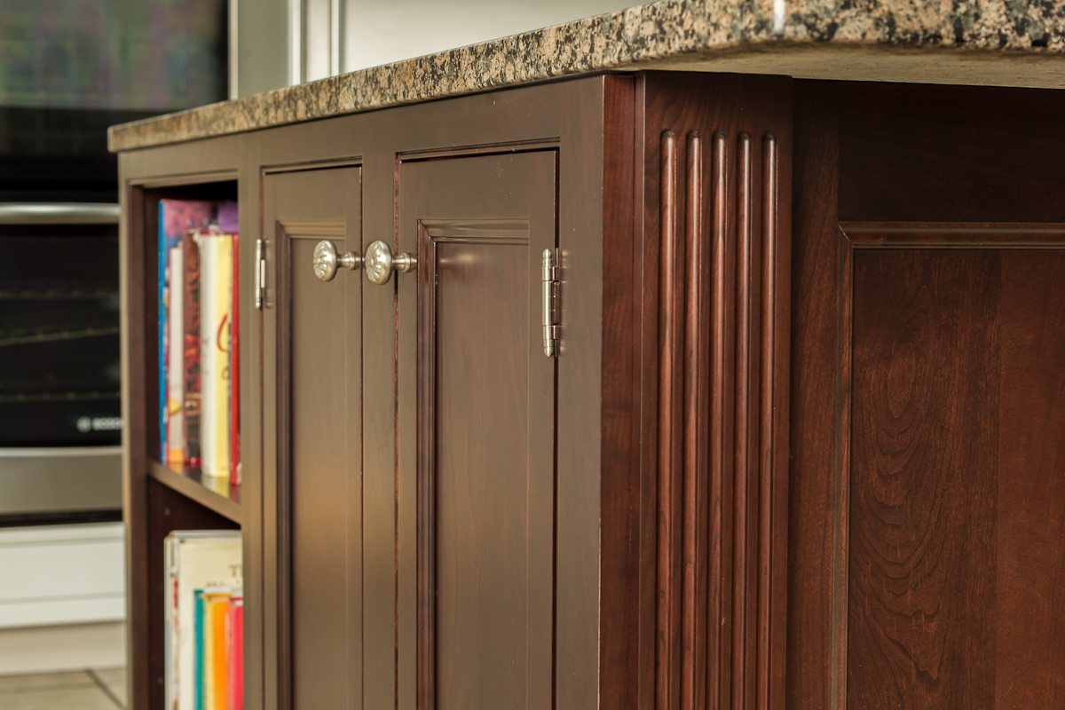 Inset Traditional Cherry Cabinet Bookshelf