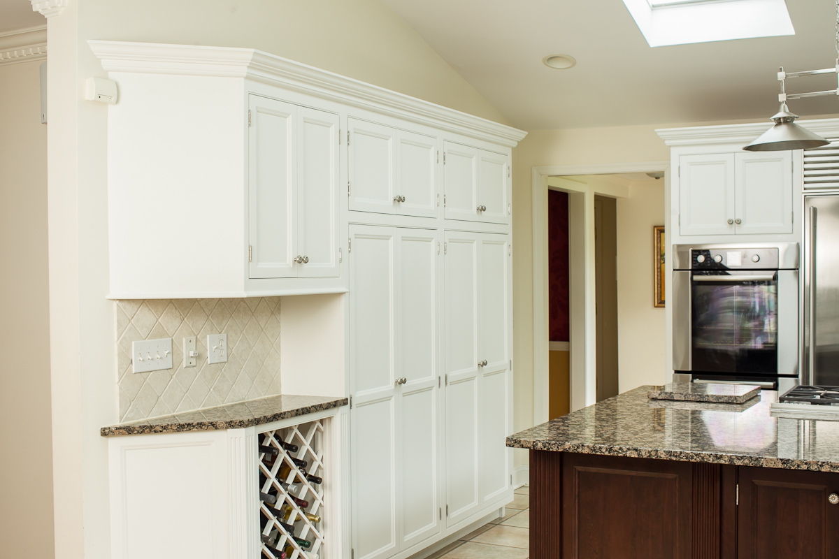Kitchen Wine Rack and Dark Island