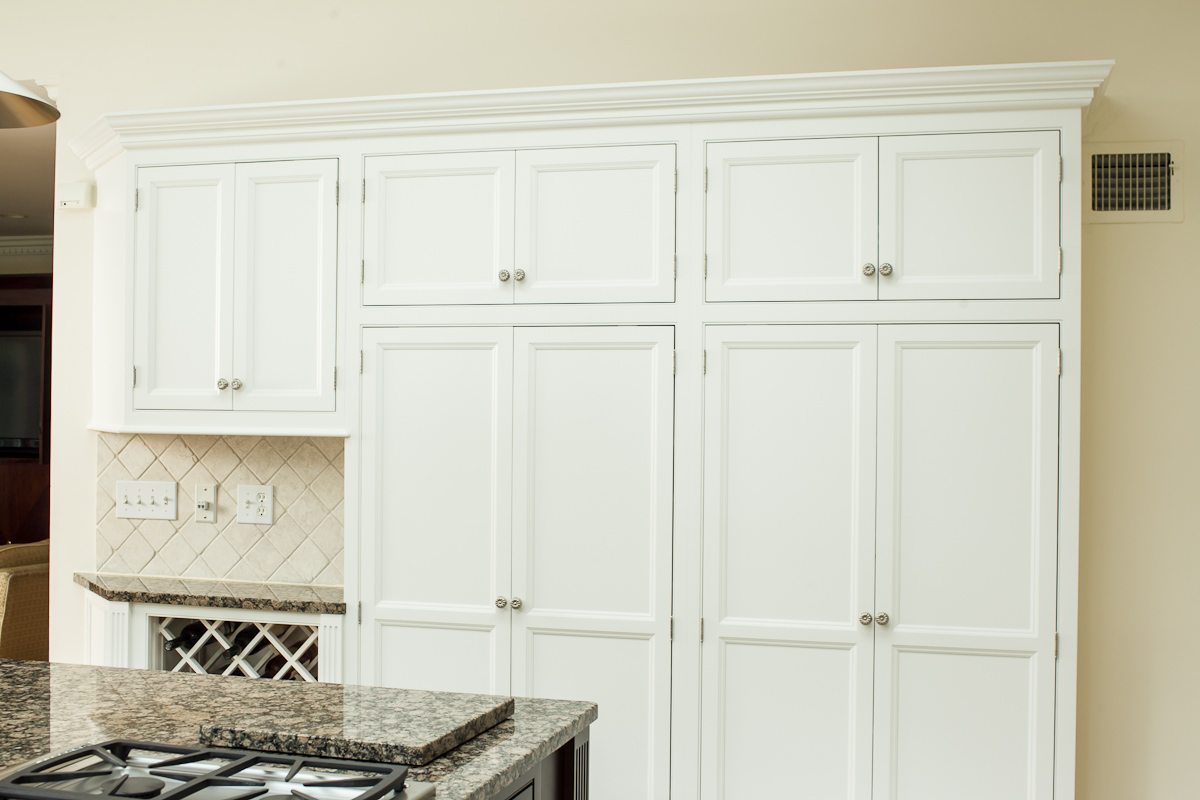 Inset White Kitchen Pantry